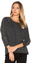 Three Dots Beaded Sweatshirt