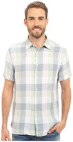 Perry Ellis Linen Buffalo Check Pattern Shirt