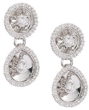 Plevé Aura 18K White Gold & Diamond Drop Earrings