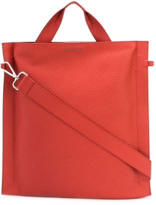 Orciani Textured Logo-Plaque Tote Bag