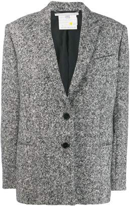 Stella McCartney melange knit wool blazer