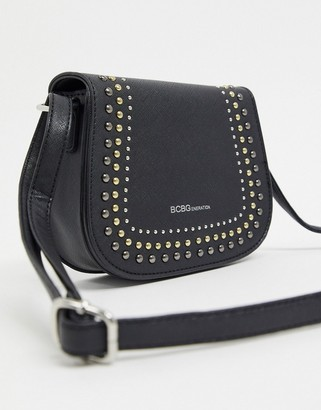 BCBGeneration sarah crossbody bag with studding detail