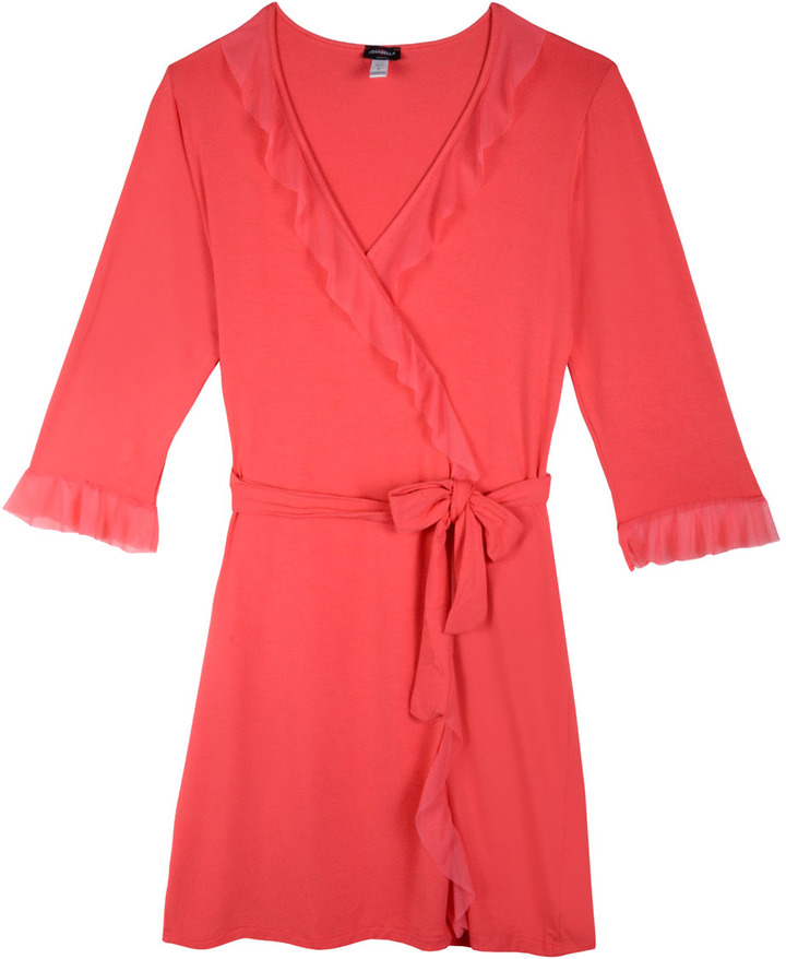 Cosabella Satin & Lace 3/4 Sleeve Robe
