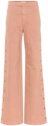 Jonathan Simkhai Button-down wide-leg jeans