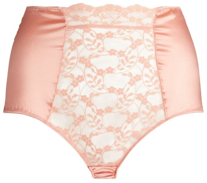 Thumbnail for your product : KATHERINE HAMILTON Lace High-Waist Briefs