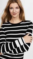 Theory Striped Crew Sweater