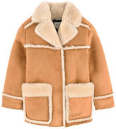 Pepe Jeans Synthetic sheepskin coat