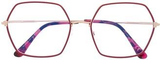 Tom Ford FT5615B hexagonal-frame glasses