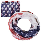David & Young Women's Washed American Flag Print Scarf
