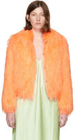 Sies Marjan Orange Faux-Fur Muffy Bomber Jacket