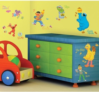 Room Mates RoomMates Sesame Street Peel and Stick Wall Decals, 45 count
