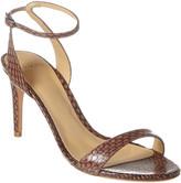 Alexandre Birman Willow 75 Snake-Embossed Leather Sandal