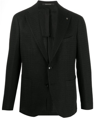 Tagliatore Textured Single-Breasted Blazer