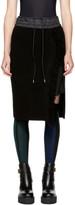 Sacai Black Knit Skirt