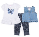 Little Lass 3-pc. Legging Set-Toddler Girls
