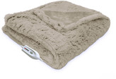 Serta Faux Fur Reversible Electric Heated Throw