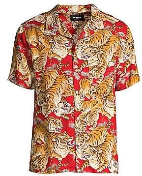 The Kooples Men's Tiger Print Shirt