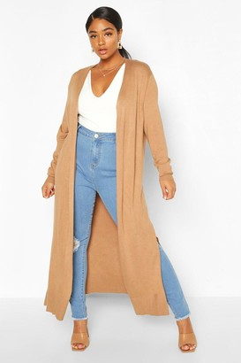 boohoo Plus Fine Knit Long Line Cardigan