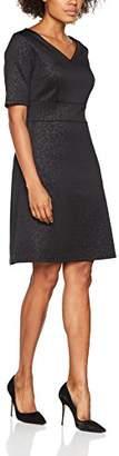 Comma Women's 817824139 Dress, Grey/Black AOP 99B4