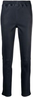 Arma Elasticated Leather Trousers
