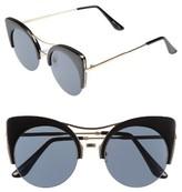 BP Women's 52Mm Cat Eye Sunglasses - Black/ Gold