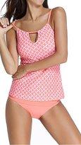 Alisa.Sonya Women Plus-Size Printed Tankini Swimwear Set