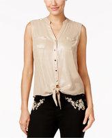 Thalia Sodi Tie-Front Blouse, Created for Macy's