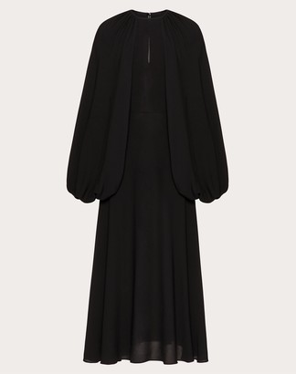 Valentino Georgette Dress Women Black Silk 100% 40