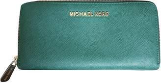 Michael Kors Jet Set Green Leather Wallets