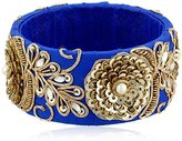 Chamak by Priya Kakkar Ocean Velvet Beaded Bangle Bracelet, 2.75""