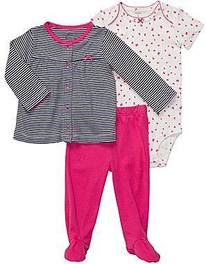Carter's 3-pc. Butterfly Cardigan Set - Girls newborn-9m
