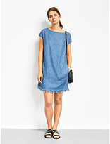 Hush Zinnia Chambray Dress, Blue