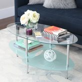 Walker Edison Frosted Glass 38-inch Coffee Table