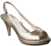Merona Women's Elsie Slingback Pumps - Gold Sparkle