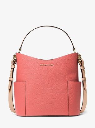 MICHAEL Michael Kors Bedford Medium Two-Tone Pebbled Leather Shoulder Bag