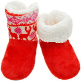 Angelina Red Deer Sherpa-Lined Slippers