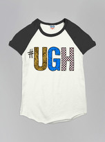 Junk Food Clothing Kids Girls #ugh Short Sleeve Raglan-su/jb-s