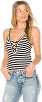 Michael Lauren Mill Lace Up Tank in Black. - size L (also in M,S,XS)
