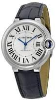 Cartier Ballon Bleu W69017Z4 Leather Strap Automatic 36mm Womens Watch