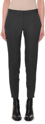Stella McCartney Flat-Front Slim-Leg Ankle Pants