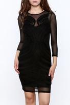 Mystic Semi Sheer Bodycon Dress
