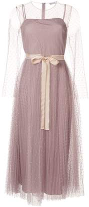 RED Valentino Point D'esprit Pleated Dress