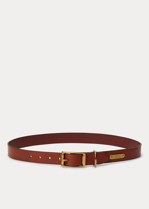 Ralph Lauren Brass-Buckle Leather Belt