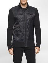 Calvin Klein Camo Zip Cargo Sweater
