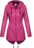 Pagacat Lightweight Rain Jacket With Hood For Women Waterproof Breathable Coat