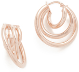 Bronzallure Elliptica Triple Hoop Earrings