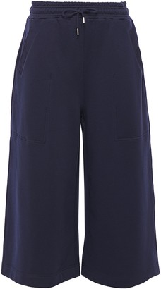 Ninety Percent Cropped French Cotton-terry Wide-leg Pants