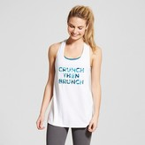 Champion Women's Graphic Muscle Tank - White