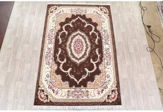 """Isabelline Peltz Soft Plush Floral Isfahan Traditional Persian Brown/Pink/Tan Area Rug Isabelline Rug Size: Rectangle 6'7"""" x 9'9"""""""