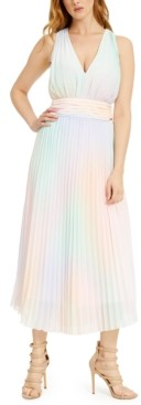 GUESS Hind Pleated Maxi Dress